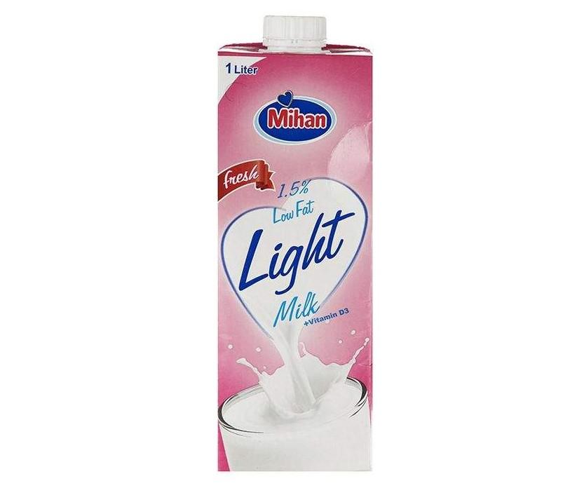 شیر کم چرب میهن حجم 1 لیتر