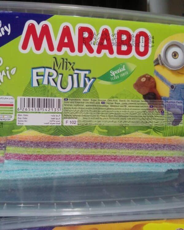 پاستیل نواری شکری با طعم میوه مارابو مقدار 900 گرم