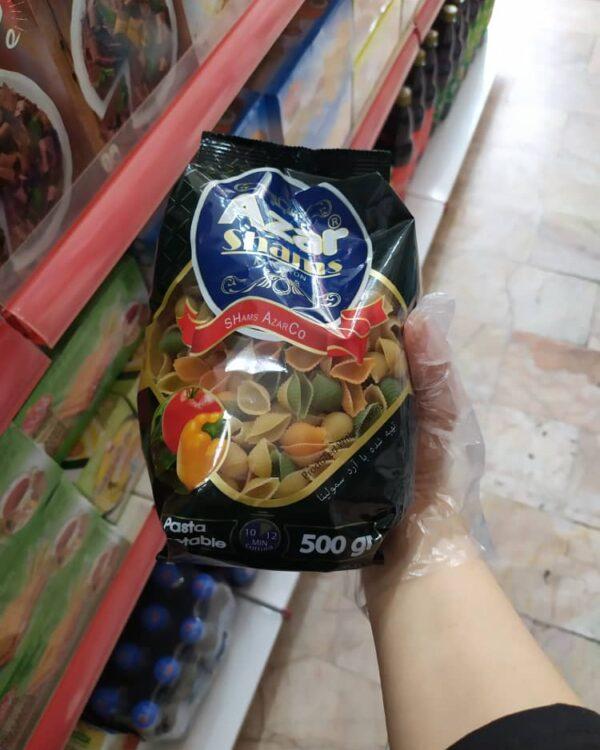 ماکارونی صدفی سبزیجات آذر شمس 500 گرمی