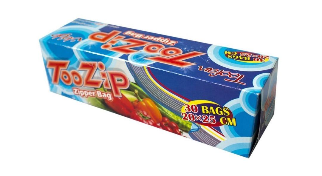 کیسه زیپ دار تو زیپ بسته 30 تایی ابعاد 20*25