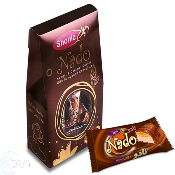 شکلات نوقا با روکش کاکائویی نادو شونیز، 60 عددی