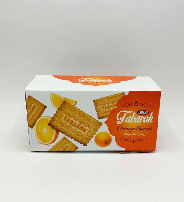 بيسكوييت 800 گرمی پرتقالي تبرک