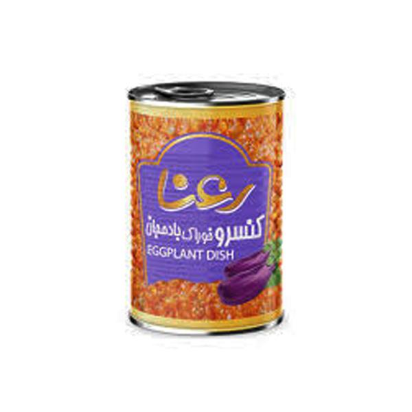 کنسرو خوراک بادمجان 400 گرمی رعنا