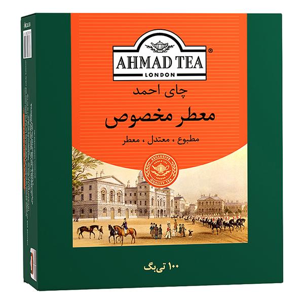 چای کیسهای معطر احمد بسته 100 عددی