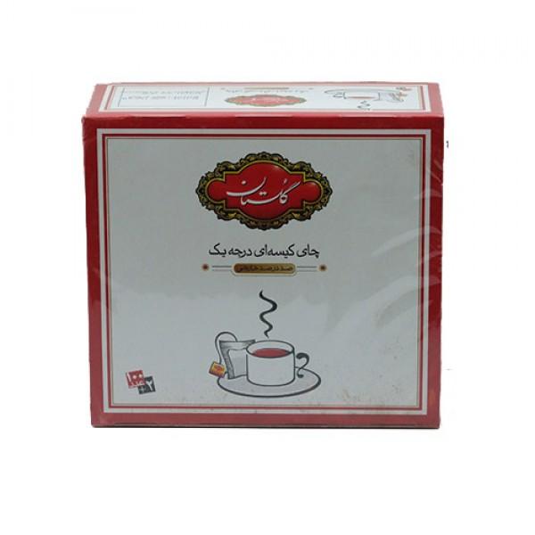 چای کیسه ای خارجی درجه یک گلستان بسته 100عددی