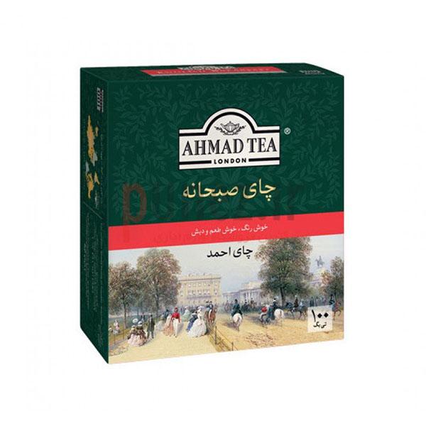 چای کیسه ای ساده احمد بسته 100 عددی