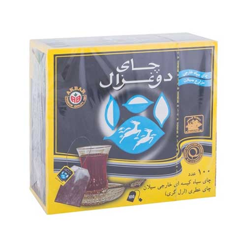 چای کیسه ای عطری دوغزال بسته 100 عددی