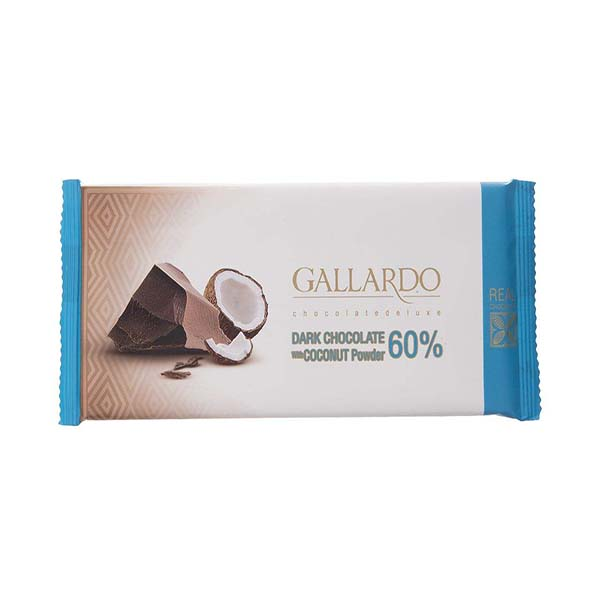 شکلات تلخ فرمند 60% با پودر نارگیل بسته 12 عددی