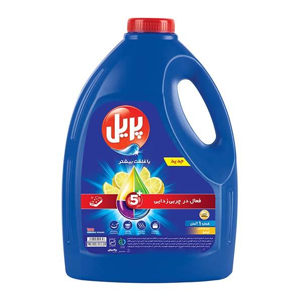 مایع ظرفشویی پریل مدل 5 در 1 با رایحه لیمو – 4 لیتر