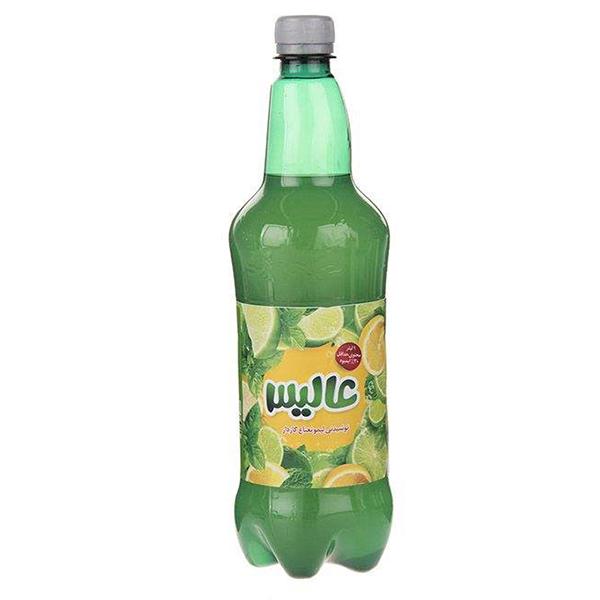 نوشیدنی لیمو نعناع گازدار عالیس – 1 لیتر