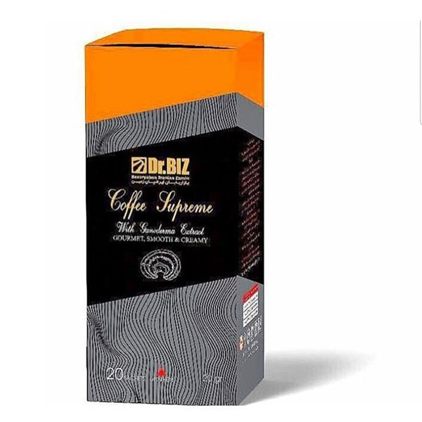 قهوه گانودرما سوپریم دکتر بیز قارچ گانودرما و جینسینگ ۲۰ عددی