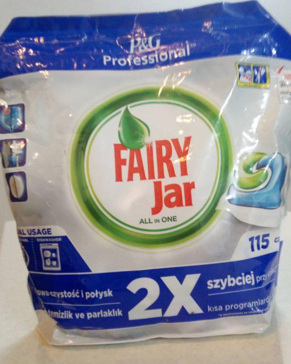 قرص ماشین ظرفشویی فیری مدل jar بسته 115 عددی