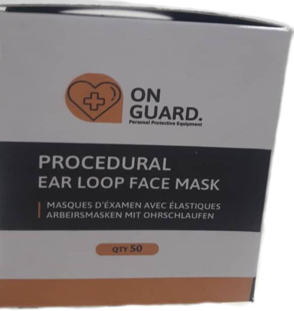 ماسک تنفسی سه لایه 50 عددی، اسپان باند با لایه ملت بلون و گیره بینی فلزی