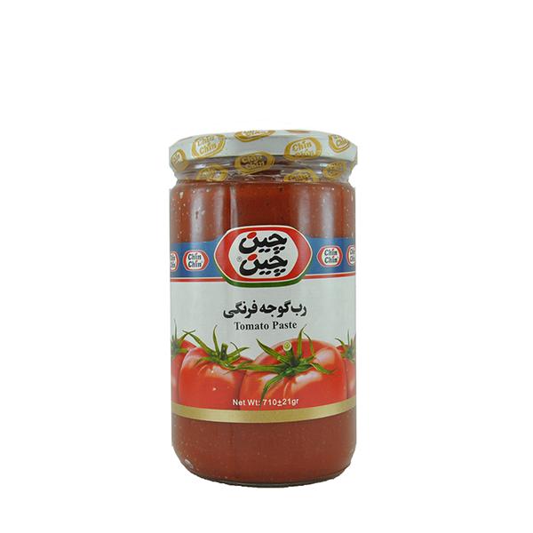 رب گوجه فرنگی شیشه ای چین چین ۷۱۰ گرمی