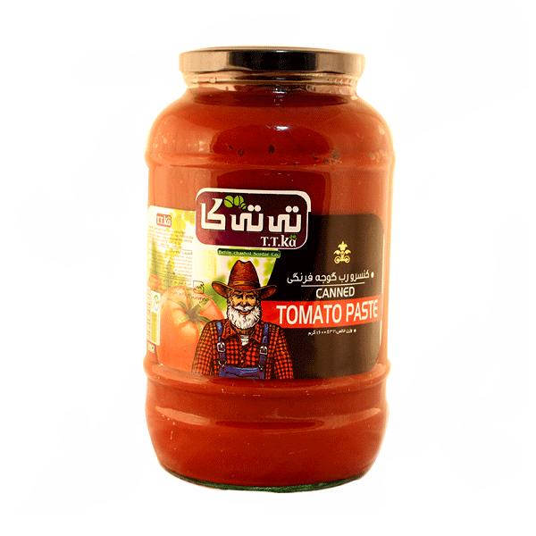 کنسرو رب گوجه فرنگی شیشه ای تی تی کا ۱۶۰۰ گرمی