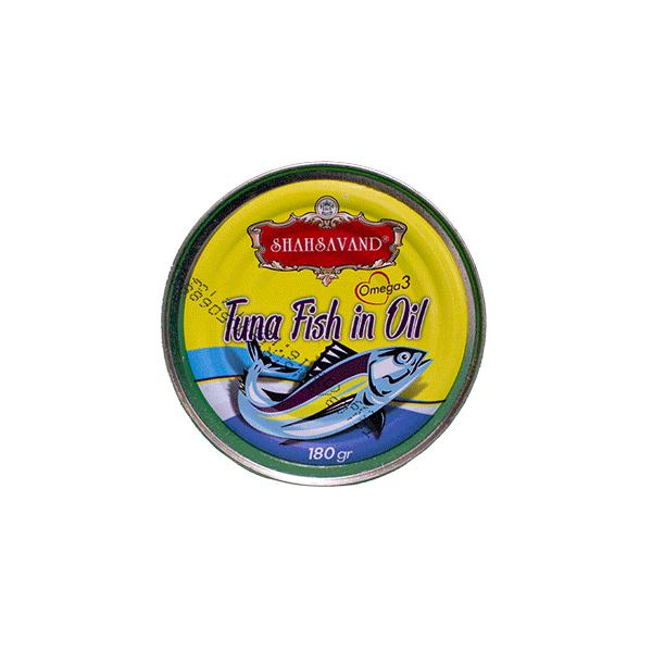 کنسرو تن ماهی شاهسوند ۱۸۰ گرمی