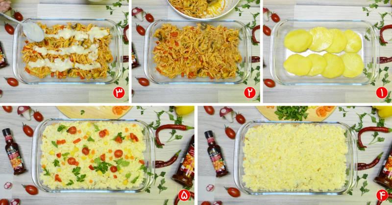 مرغ - طرز تهیه گراتن مرغ و سیب زمینی؛ غذای لذیذ فرانسوی